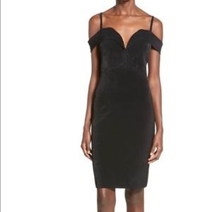 Leith off the shoulder black dress w/sweetheart